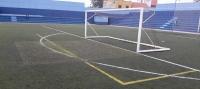 El césped del estadio municipal El Peñón se sustituirá después de casi veinte años de uso intensivo