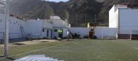 San Juan de la Rambla realiza mejoras en el campo de fútbol El Volcán, en Las Aguas
