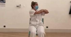 Los pacientes con Covid del HUC cuentan con un vídeo que fomenta la práctica de ejercicios básicos durante el ingreso