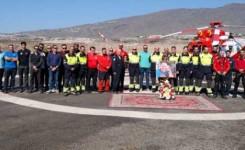 El cuerpo de Bomberos de Adeje homenajea al piloto de rescate Gustavo Esponera Berkley