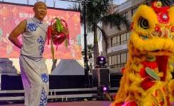 La alcaldesa de Santa Cruz de Tenerife preside la celebración del Año Nuevo Chino en la plaza de La Candelaria