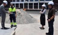 El alcalde de Gáldar visita las obras de mejora de la Avenida de Sardina financiadas con fondos europeos