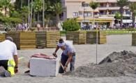 La playa de Los Cristianos contará con una gran zona de sombra, que se suma a la de Las Vistas