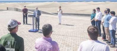 Cuatro agentes de Medio Ambiente y dos policías locales, todos con capacidad sancionadora, protegerán las Dunas de Maspalomas