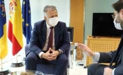 Torres aborda con el secretario de Estado de la España Global los fondos europeos y el certificado sanitario