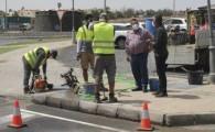 El Ayuntamiento renueva la señalización de pasos y aparcamientos en Caleta de Fuste y Costa de Antigua