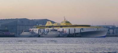 El nuevo fast ferry de Fred. Olsen Express ultima sus pruebas finales con vistas a su estreno este verano