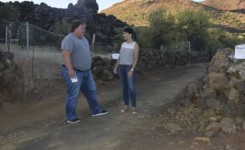 Concluyen los trabajos de tratamiento del pulgón negro de la madera en el trazado de la ruta del Almendro en Flor