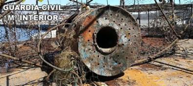 La Guardia Civil interviene 46 nasas ilegales en el interior de instalaciones portuarias de Gran Canaria