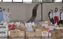 El Hospital Dr. Negrín entrega productos de primera necesidad a Cáritas Diocesana de Canarias