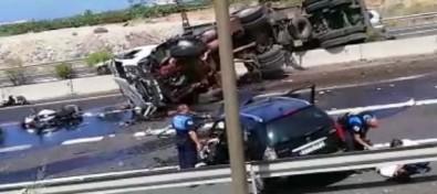 Un camión vuelca en la TF-1 a la altura de Fañabé, ocasionando un fallecido y dos heridos graves