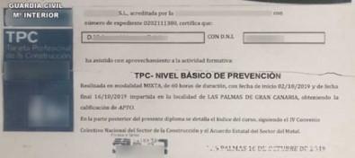 La Guardia Civil investiga a una persona en Agüimes por sendos delitos de estafa y falsedad documental