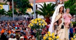 Arguineguín y Playa de Mogán destilan fervor marinero en la procesión terrestre de la Virgen del Carmen