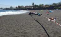 Cierre temporal al baño de la playa de Punta Brava y del Castillo