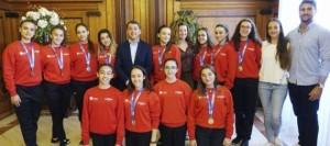 El alcalde recibe al Club Batistana tras sus logros en la Copa de España de Base
