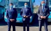 El Vicepresidente presenta las nuevas líneas de GLOBAL que unen el sur y Teror con el campus universitario de Tafira de forma directa