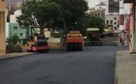 Vías y Obras teldense culmina los trabajos de reasfaltado de varias calles de La Herradura