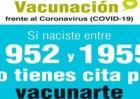 Las personas nacidas entre 1952 y 1955 que no hayan sido vacunadas contra la COVID-19 pueden pedir cita en el 012