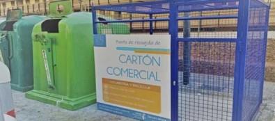 Arona, municipio pionero en Tenerife en instalar jaulas para la recogida de cartón comercial de primera calidad