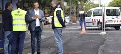 El Ayuntamiento mejora el pavimento de un tramo peatonal de la rambla de Santa Cruz