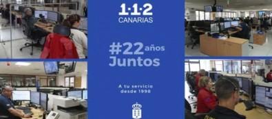 Más de nueve millones de personas han solicitado ayuda al 1-1-2 en Canarias durante sus 22 años de vida
