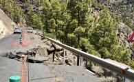 El Cabildo solicitará la declaración de emergencia de la reparación del muro cedido en la carretera que une Ayacata con Mogán