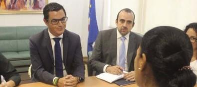 El vicepresidente del Gobierno de Canarias y la ministra de Infraestructuras de Cabo Verde hacen seguimiento de los MAC en materia de Obras Públicas