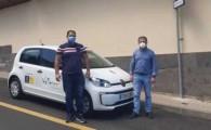 Valleseco estrena un nuevo coche eléctrico que se incorpora a la flota del parque móvil municipal