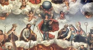 El Cabildo presenta los resultados de la restauración del cuadro de 'Ánimas' de Tetir y la talla de San Ramón Nonato de El Time